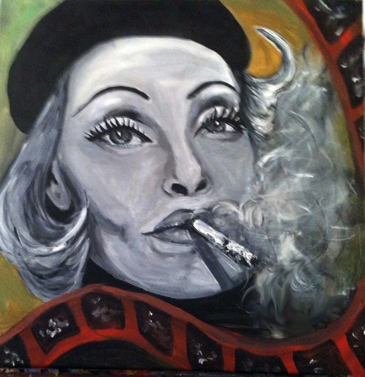 Marlene - film, moviestar, painting - catsnodgrass | ello