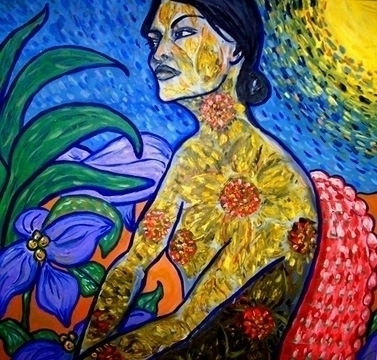 Eden - flowers, garden, sun, painting - catsnodgrass | ello