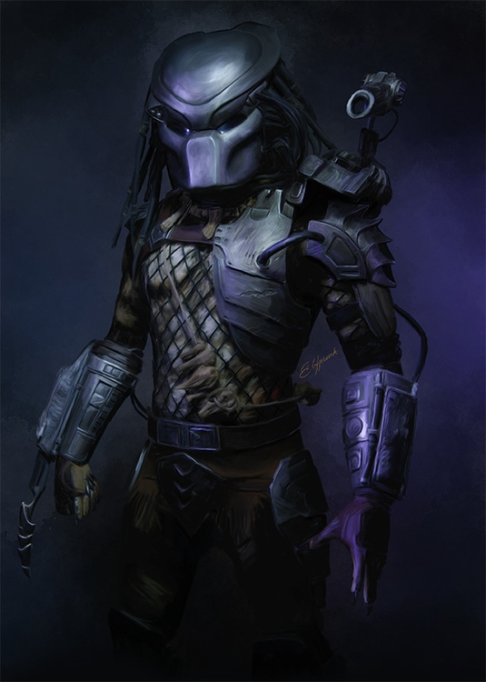Predator - predator, alien, fanart - elfpunk999 | ello