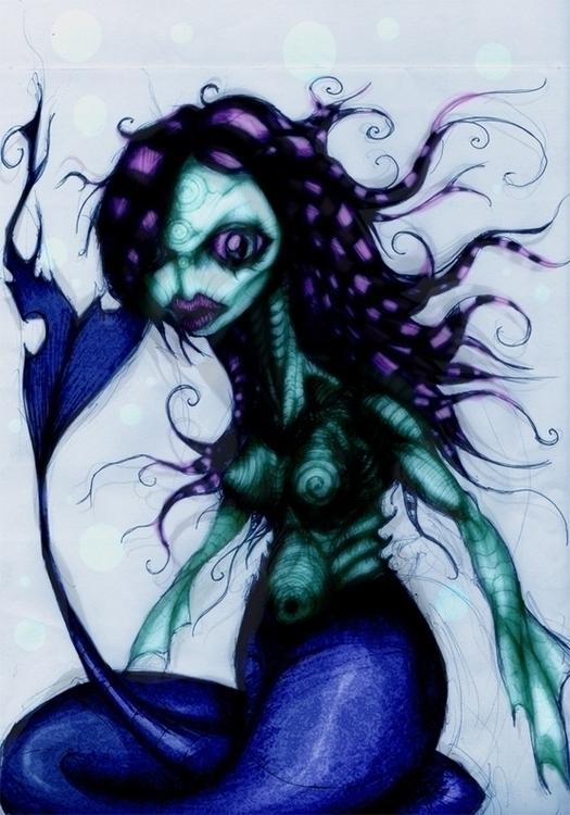 creepy mermaid - creature - jeremieduval   ello