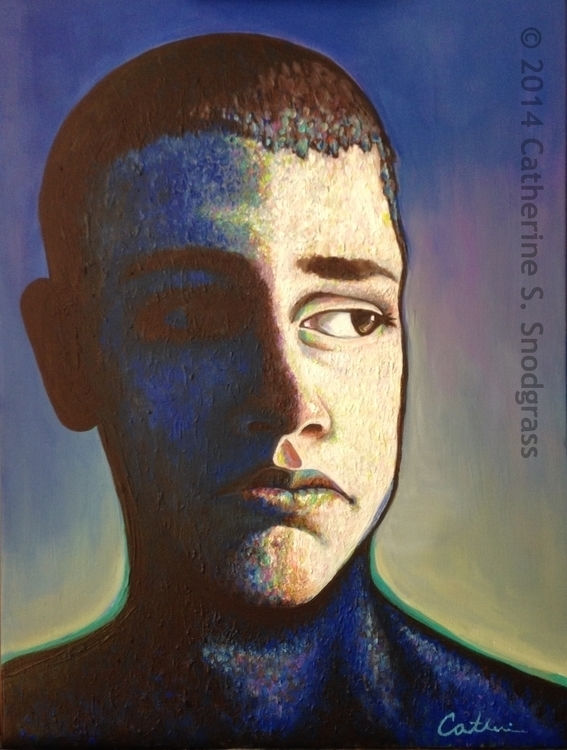 Aftermath - portrait, painting, acrylic - catsnodgrass | ello