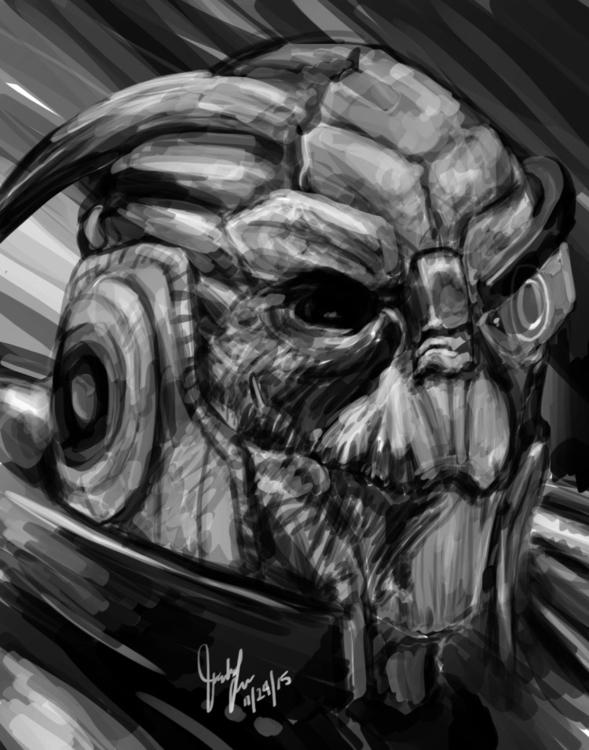 quick-study Garrus Mass Effect  - candaceaprillee | ello