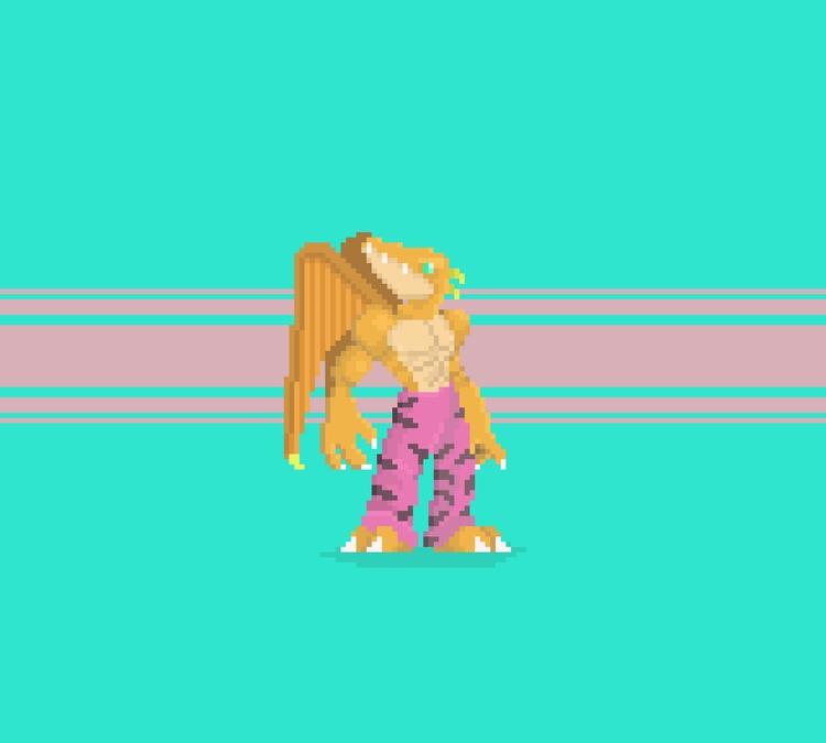 Retro Wyvern - pixelart, digitalart - planckpixels | ello