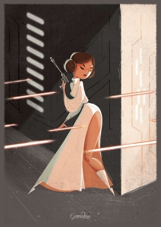 Shoot Girl Princess Leia poster - gemmaroman | ello