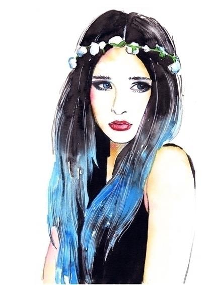 watercolor, illustration, lady - mistakeann | ello