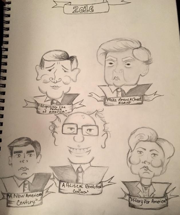 Candidates slogans - caricatures - katiecorley14 | ello