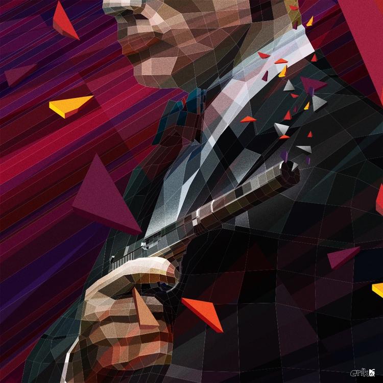 Goldeneye 007 - illustration, lowpoly - erikdgmx | ello