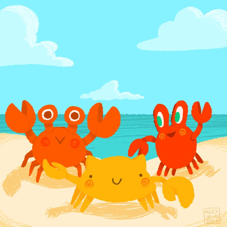 piece Crab Zine organised laugh - alexandrasketch | ello