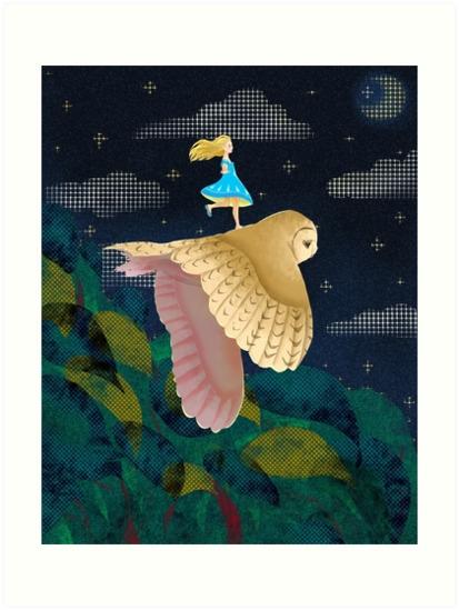 Fly night, gonna - illustration - aniark | ello