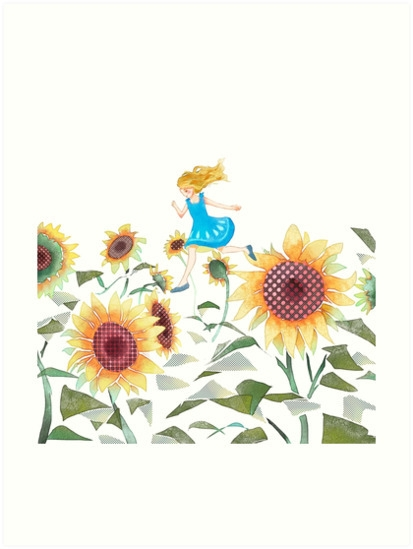 leap =) sunflowers - illustration - aniark | ello