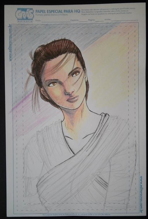 Rey Star Wars VII, fast sketch - firsoff | ello