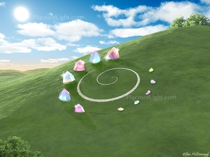 Magic Circle - crystal, spirals - emcdonough   ello