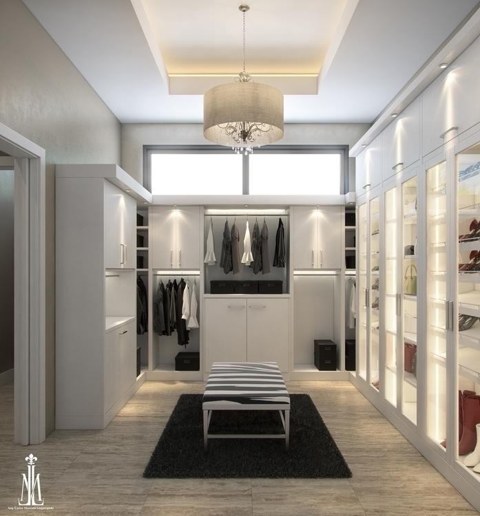 closet design - 3d, 3dsmax, architecturalvisualisation - arqmarenco | ello