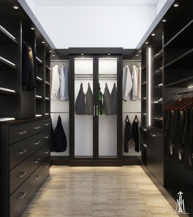 closet design - 3drendering, architecturalvisualisation - arqmarenco | ello