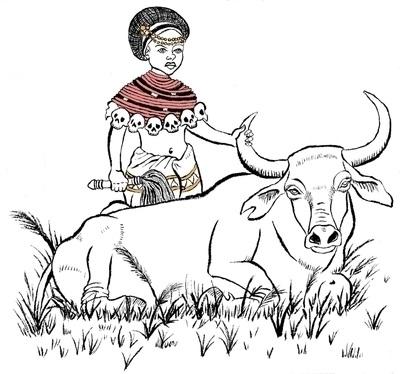 Goddess Oya - illustration, penink - kaytiespellz   ello