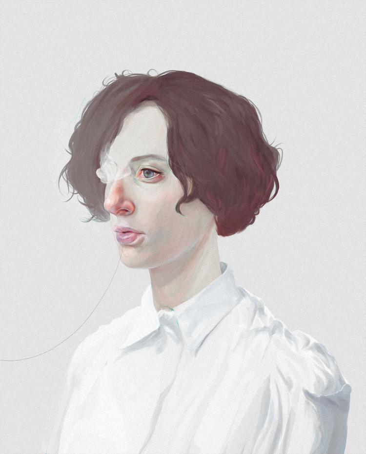 blanco - illustration, painting - devia | ello