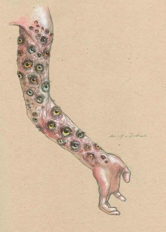Arm Dodomeki - illustration, drawing - ticklemecthulhu   ello
