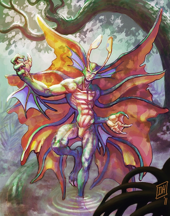 illustration, painting, darkstalkers - burntmoth19 | ello