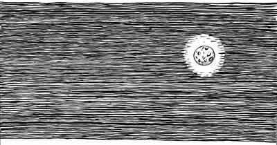 moon, penink, ink, night, nightsky - kaytiespellz | ello
