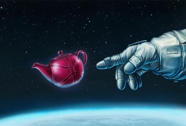 Dribbble Space Teapot Illustrat - zizilka | ello