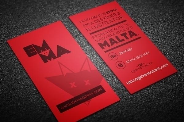 Business Cards - illustration, businesscard - emz-5804 | ello