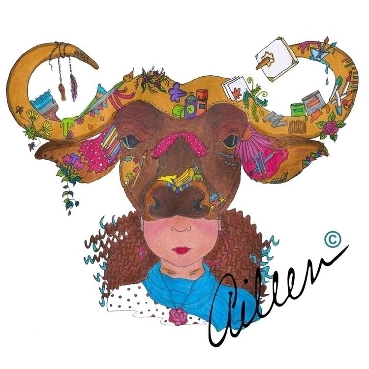 Cafre Masquerade Collection Ink - aileencopyright | ello