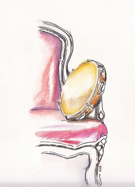 pandeiro sitting chair - watercolor - dannyknebel   ello