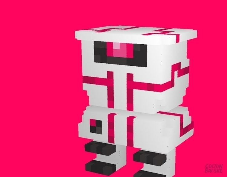 TURRET BOT - gameart, voxelart, voxelart - coltonbalske | ello