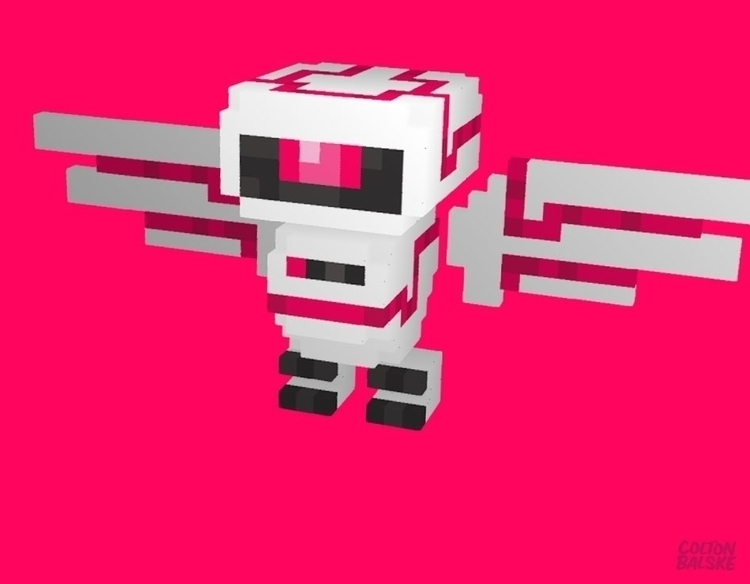 SWOOP BOT - animation, voxelart - coltonbalske | ello