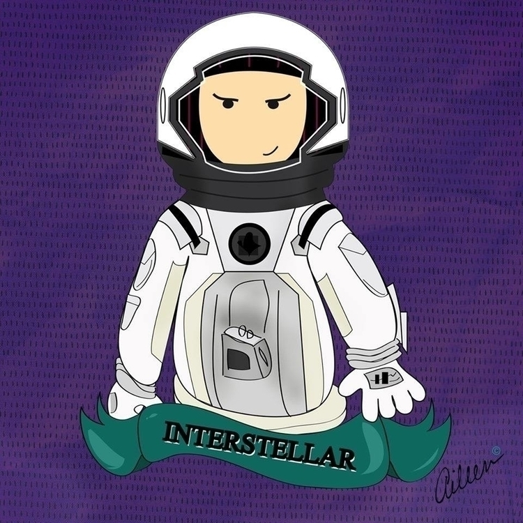 Interstellar Movie - fanart, illustration - aileencopyright | ello