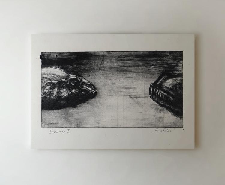 """Predatory fish"" etching, print - zizilka | ello"