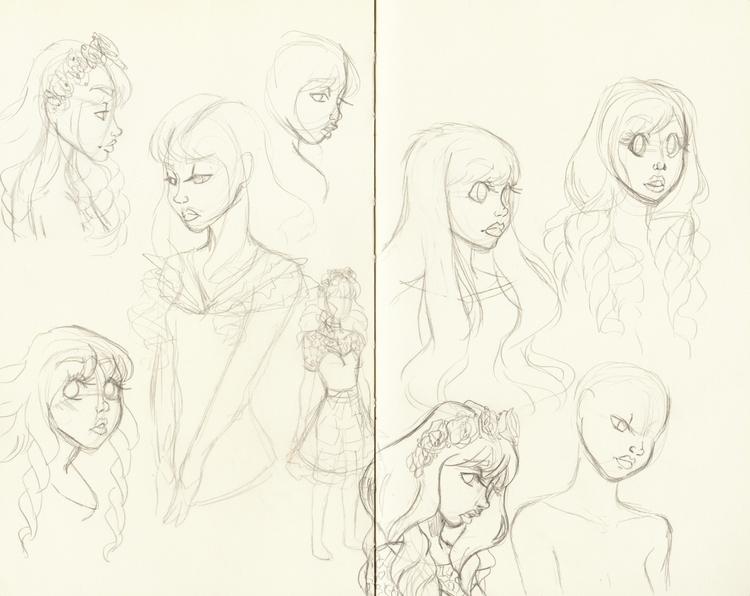 sketchbook, characterdesign - kelsonouveau | ello