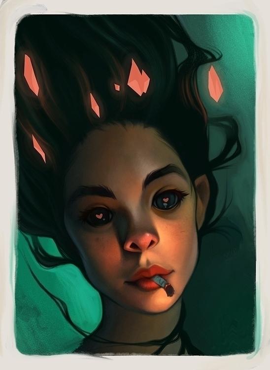 portrait, portraiture, green - emilyjulstrom | ello