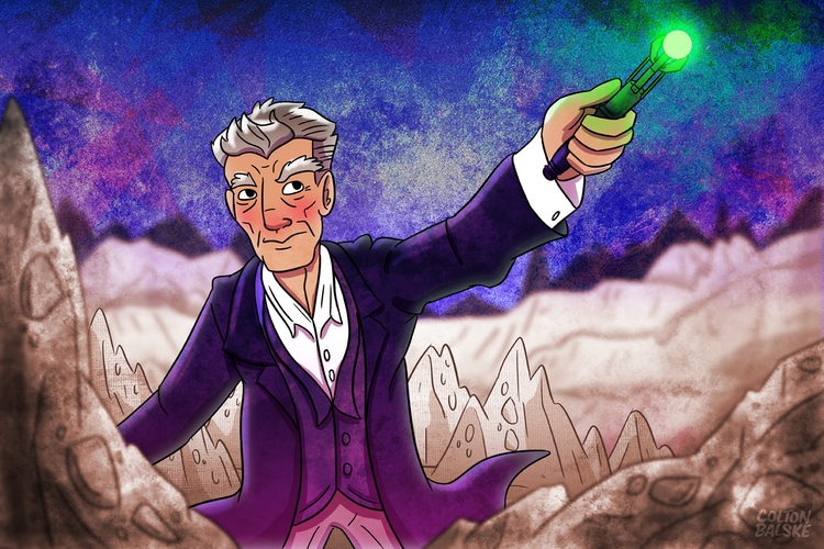 TWELFTH DOCTOR - illustration, fanart - coltonbalske | ello