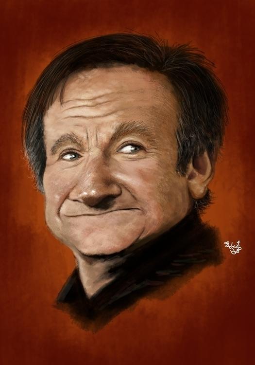 Robin Williams - illustration, painting - mahmoudosama-1421 | ello
