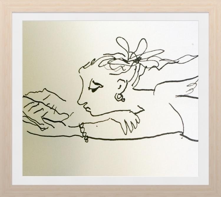 Muse, ink pen illustration - penink - batik-1005 | ello
