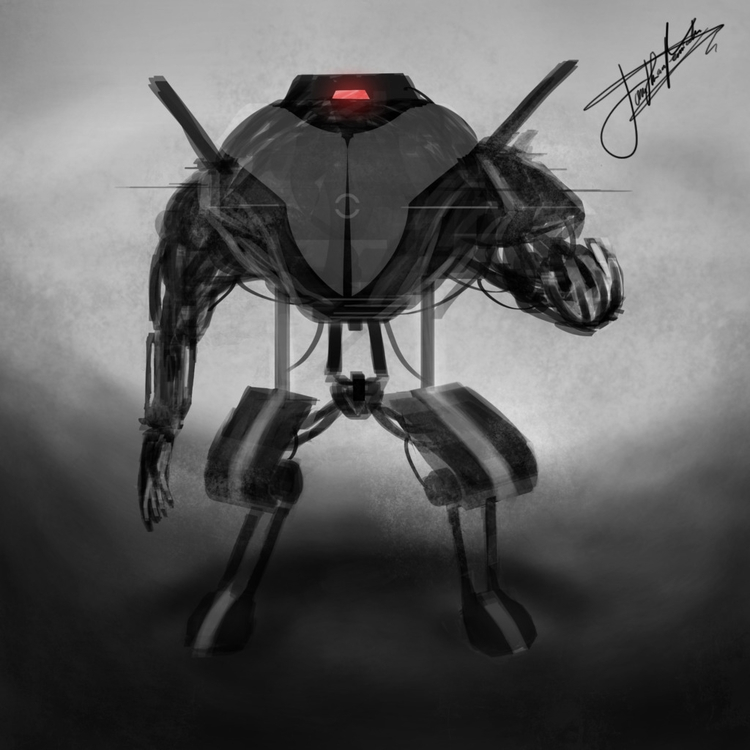 Robot Speed Sketch (1hr - conceptart - xeiino | ello
