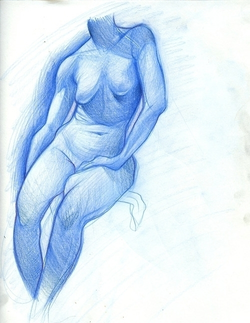 blue, figuredrawing - emilyjulstrom | ello