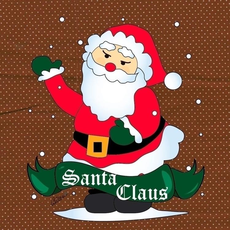 Santa Claus - Merry Christmas - fanart - aileencopyright   ello