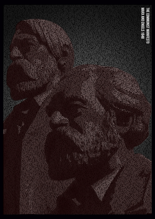 Full Text Portrait - Marx Engel - ajgartanddesign   ello