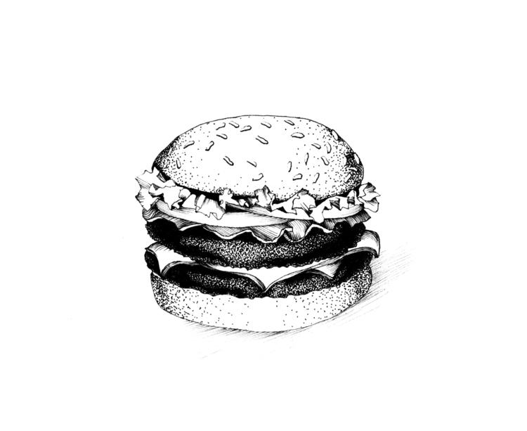 Burger - illustration, food, foodillustration - hanna-1284 | ello