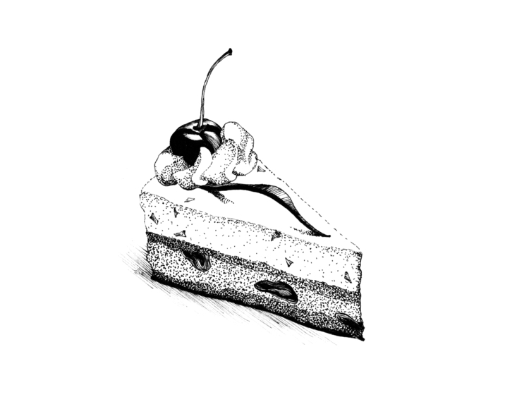 Piece cake - illustration, food - hanna-1284 | ello