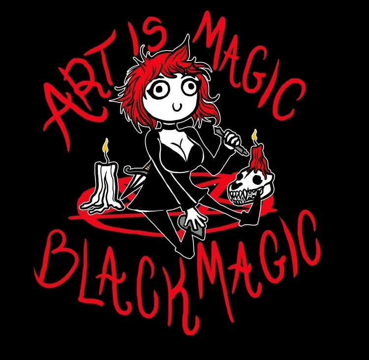 Art Magic! Black Magic - Goth, Comic - vulfolaic | ello