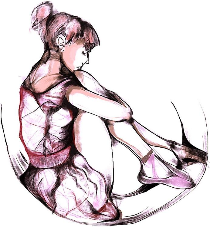 ballerina - girl, figuredrawing - jeremieduval | ello