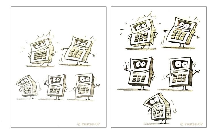 Calculator - calculator, characterdesign - yustas | ello