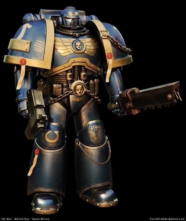 Warhammer Space Marine art - warhammer - farrukh-1236 | ello