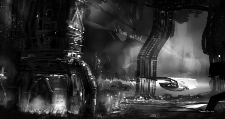 Grey scale speed paint - conceptart - indicator | ello