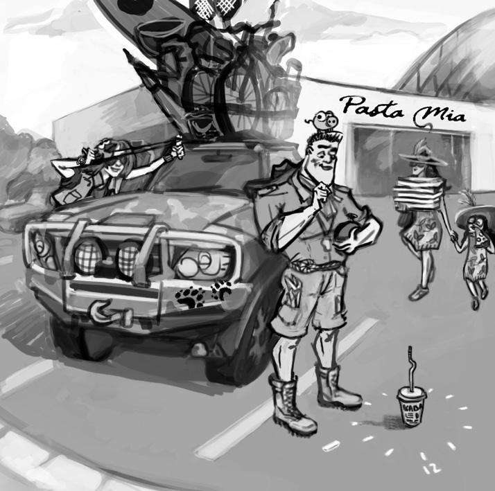 sketch, calender, characterdesign - natalytsiapalo | ello