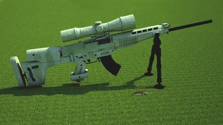 design, gameart, 3d, weapon, sniper - 3donomer   ello