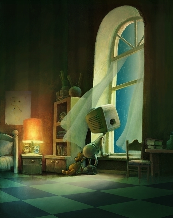 Lunar Wind - robot, window, dream - yustas | ello